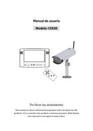 Manual de usuario Modelo: CS93D Por favor lea atentamente - ELRO