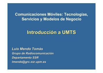 Tecnologías, Servicios y Modelos de Negocio. Introducción a UMTS