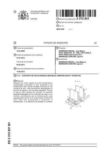 Es 2 220 189 b1 for Oficina marcas y patentes