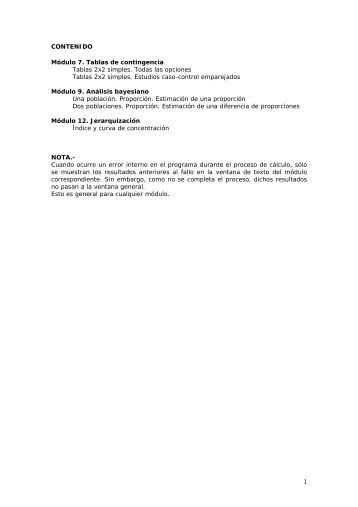 Epidat - Errores detectados en la versión 3.1