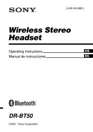 Wireless Stereo Headset - Select Your Model - Sony