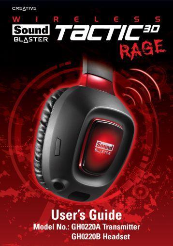 Uso de Sound Blaster Tactic3D Rage Wireless - Creative
