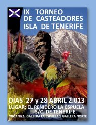 Reglamento - Federación Gallística Canaria
