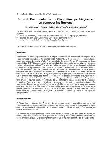 Brote de Gastroenteritis por Clostridium perfringens en un comedor ...