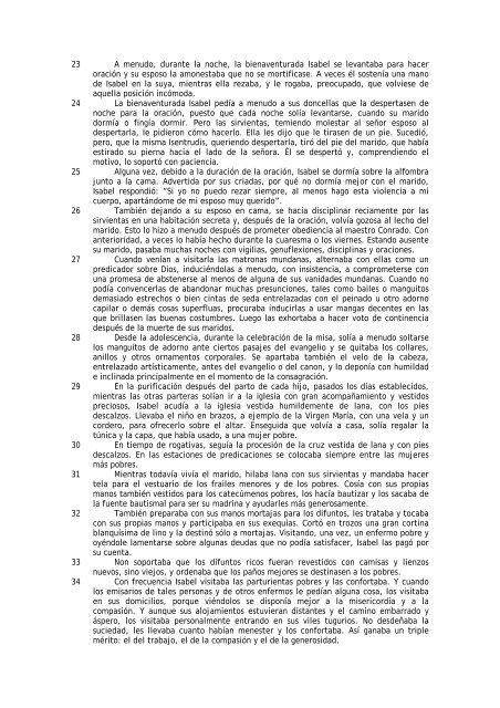 declaraciones de las cuatro sirvientas - Tercera Orden Regular