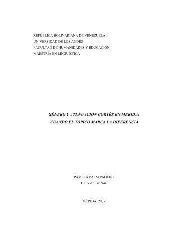 género y atenuación cortés en mérida - Saber ULA - Universidad de ...