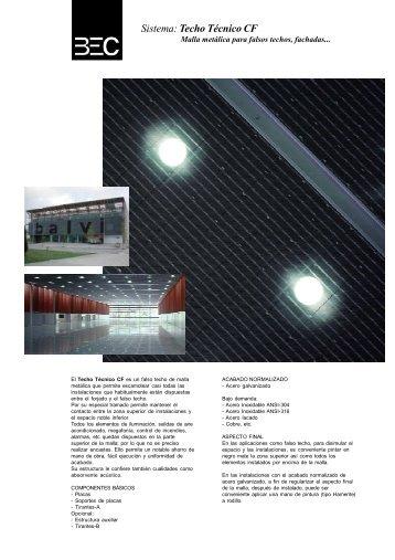 Falsos Techos de Malla Metálica - CF - Industrias BEC, SA
