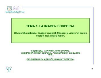 TEMA 1: LA IMAGEN CORPORAL - RUA
