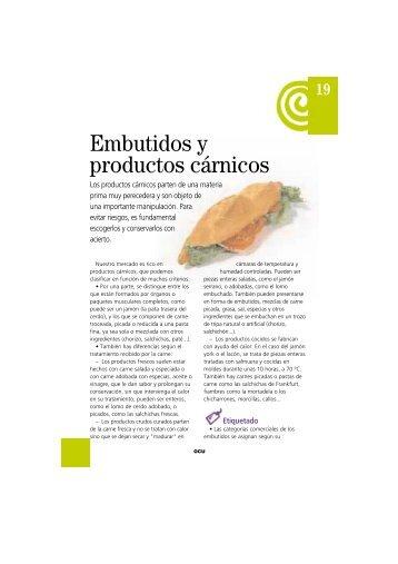 Embutidos y productos cárnicos - Ocu