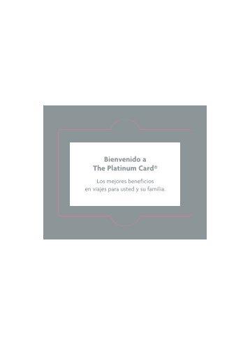 Bienvenido a The Platinum Card® - American Express