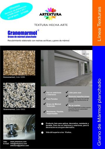 Ficha técnica Granomarmol - Artextura