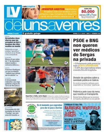 PSOE e BNG non queren ver médicos do Sergas na privada