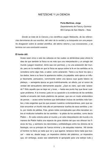 NIETZSCHE Y LA CIENCIA - Enciga