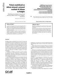 Protesis maxilofacial en defecto intraoral y extraoral resultado de ...