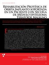 Rehabilitación Protésica de órbita Implanto soportada en un ...
