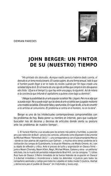 john berger: un pintor de su (nuestro) tiempo - IPS – Karl Marx