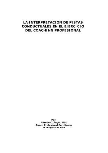 Pistas conductuales y Coaching profesional - Alfredo C. Angel