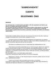 """""""sobreviviente"""" cuento seudónimo: ónix - Estado + Derechos"""