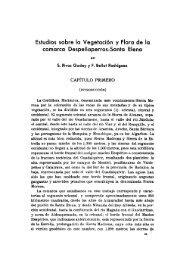 Estudios sobre la Vegetación y Flora de la - Real Jardín Botánico