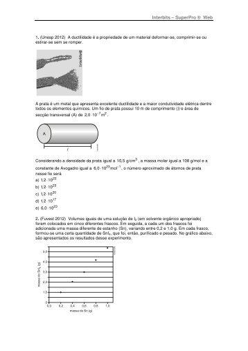 Lista de exercicios - Química