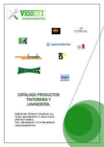 CATÁLOGO PRODUCTOS TINTORERIA Y LAVANDERÍA.