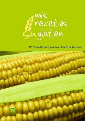 """Libro """"Mis recetas sin gluten"""" - Junta de Andalucía"""