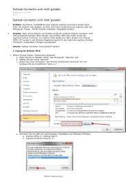 Outlook Connector wird nicht geladen - orgAnice