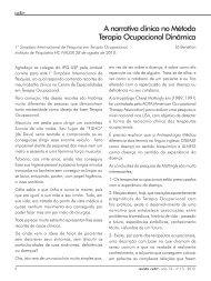 A narrativa clinica no Método Terapia Ocupacional Dinâmica - CETO
