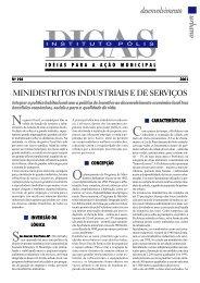 Minidistritos Industriais e de Serviços - Polis