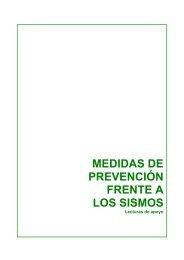 MEDIDAS DE PREVENCIÓN FRENTE A LOS SISMOS