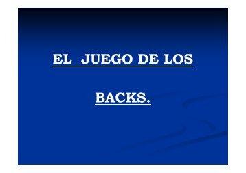 JUEGO DE LOS BACKS - URBA