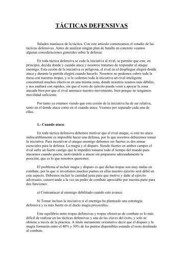 Tácticas Defensivas (por Daradriell)