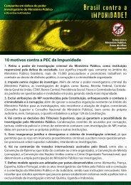 10 motivos contra a PEC da Impunidade - Brasil Contra a Impunidade