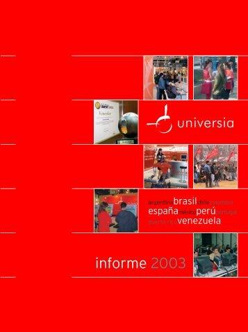 informe 2003 - Encuentro Internacional de Rectores de Universia