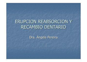 ERUPCION REABSORCION Y RECAMBIO DENTARIO