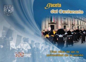 Centenario de la UNAM - UNAM - Universidad Nacional Autónoma ...