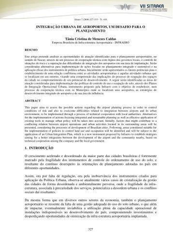 INTEGRAÇÃO URBANA DE AEROPORTOS, UM DESAFIO ... - TGL