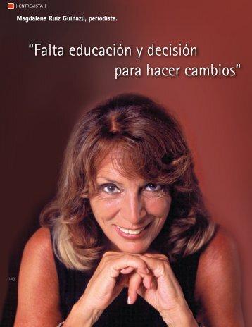 Magdalena Ruiz Guiñazú, periodista. - CESVI Argentina