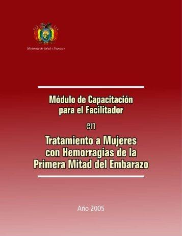 Módulo de Capacitación para el Facilitador Tratamiento a Mujeres ...