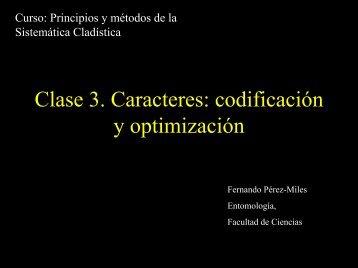 Clase 3. Caracteres - Facultad de Ciencias