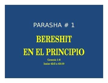 BERESHIT EN EL PRINCIPIO - Desde el monte de Efraim