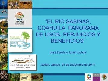 El rio Sabinas, Coahuila, panorama de usos, perjuicios y beneficios