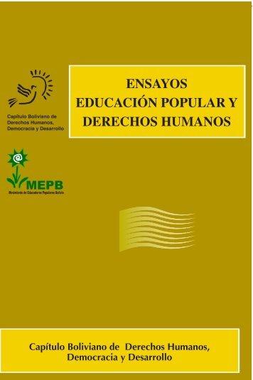 ensayos educación popular y derechos humanos - Capítulo ...