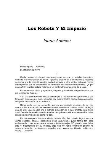 Los Robots Y El Imperio Isaac Asimov