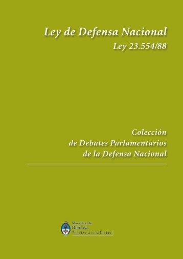 Ley de Defensa Nacional - Ministerio de Defensa