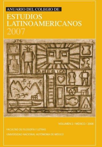 AnuArio del Colegio de estudios lAtinoAmeriCAnos - Repositorio de ...