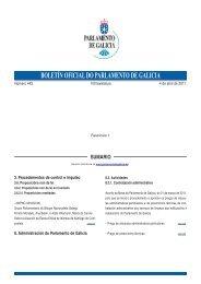 boletín oficial do parlamento de galicia sumario