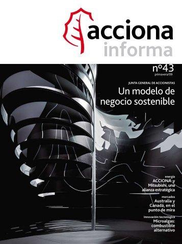 Num. 43 - Primavera 2009 ( pdf - 2445 Kb ) - Acciona