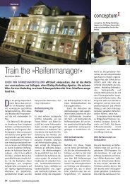 Train the »Reifenmanager« - Reifen Consult...