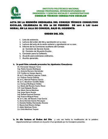 acta de la reunión ordinaria celebrada el 28 de febrero de 2011 [pdf]